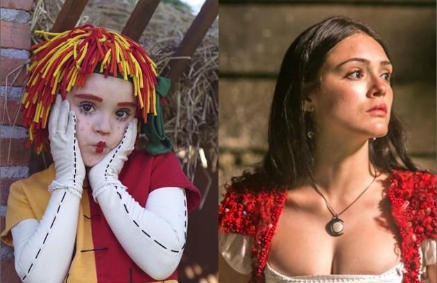 No ar em 'Novo Mundo' como Anna, Isabelle Drummond ganhou destaque na TV ainda criança como a boneca Emília, do 'Sítio do picapau amarelo', entre 2001 e 2006 (Foto: Divulgação/TV Globo)
