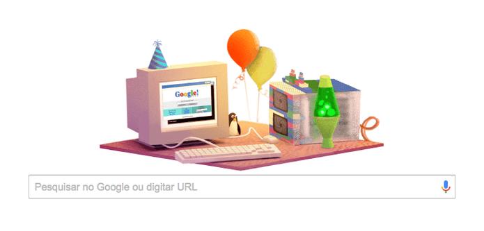 O doodle do Google de 2015, mais nostálgico (Foto: Reprodução/Google)