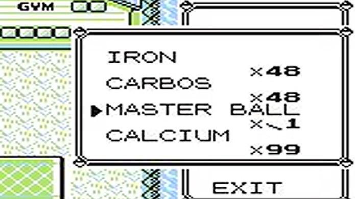 MissingNo. pode multiplicar até mesmo Master Balls e Rare Candys (Foto: Reprodução/Giant Bomb)