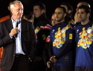 Johan Cruyff, amistoso Catalunha e Nigéria (Foto: Agência AFP)