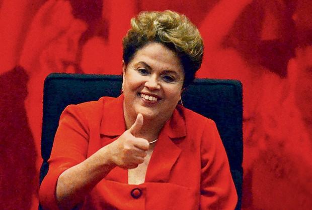 SÓ ALEGRIA A presidente Dilma Rousseff. Enfim, uma semana de boas notícias para ela  (Foto: Folhapress)