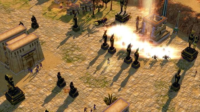 Os gráficos e os efeitos das animações de Age of Mythology: Extended Edition receberam um enorme incremento (Foto: Divulgação/Microsoft Studios)