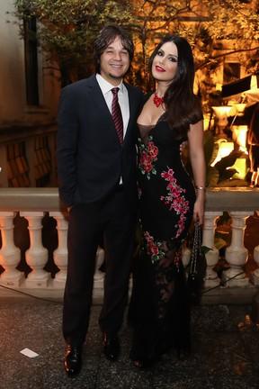 Leandro e Natália Guimarães em festa em São Paulo (Foto: Manuela Scarpa e Marcos Ribas/ Brazil News)