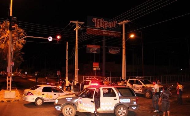 Assalto em hipermercado de Mossoró, RN, foi frustrada  (Foto: Marcelino Neto)