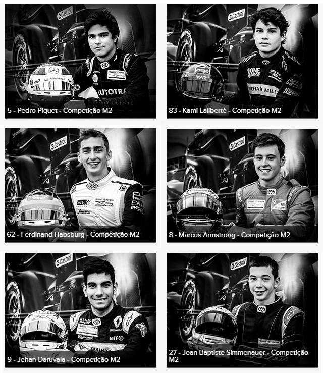 Pilotos da M2 Competição. (Foto: Divulgação/Castrol Toyota Racing Series)