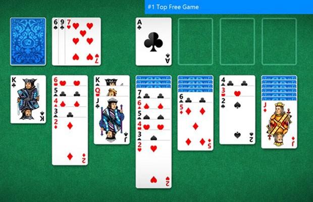 'Paciência', jogo clássico dos sistemas operacionais Windows. (Foto: Divulgação/Windows)