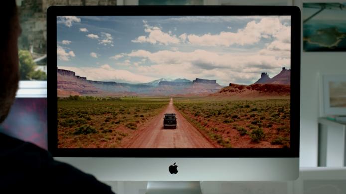 Novo iMac tem tela Retina e resolução chamada pela Apple de '5k' (Foto: Reprodução)
