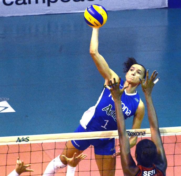 Rio X Sesi-SP, Superliga de Vôlei Feminino (Foto: Alexandre Arruda/CBV)