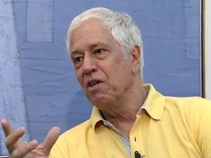 Nuno Leal Maia é homenageado em Santos, SP (Foto: Reprodução/TV Tribuna)