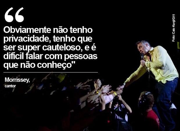 Morrissey durante show em São Paulo (Foto: Caio Kenji/G1)
