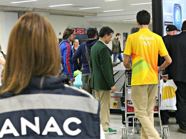 Fiscais da Agência durante os jogos olímpicos 2016 (Foto: Anac / Divulgação)