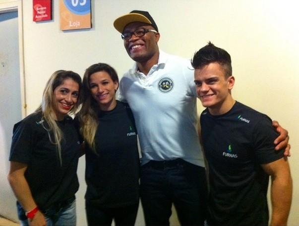 Anderson Silva, Jade Barbosa, Daniele Hypolito e Caio Sousa (Foto: Reprodução Instagram)
