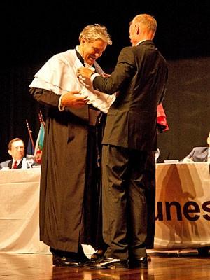 Durigan com o secretário Herman  (Foto: Chello Fotógrafo/Unesp)