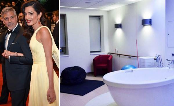 O ator George Clooney, a advogada Amal Alamuddin e o quarto no qual nasceram seus filhos (Foto: Reprodução)