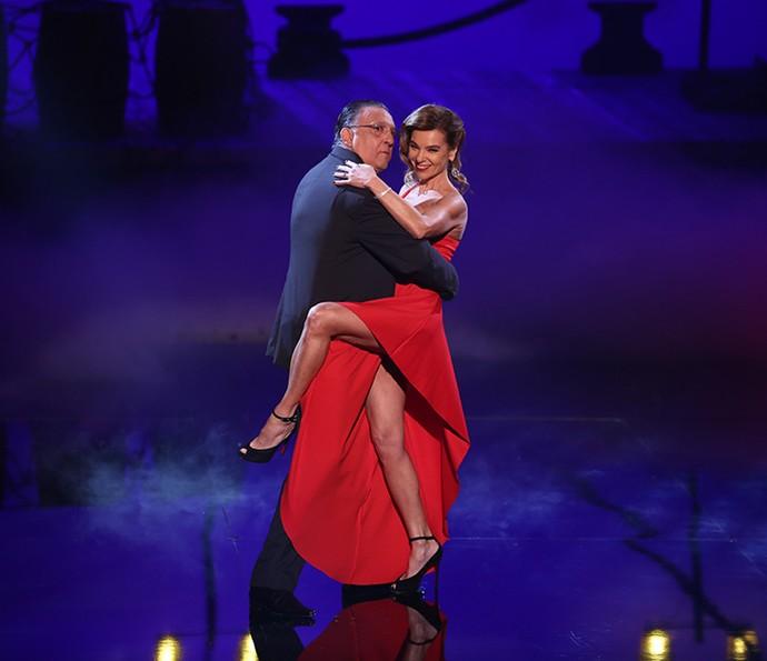 Galvão arrasou no tango ao lado da esposa, Desirée (Foto: Isabella Pinheiro/Gshow)