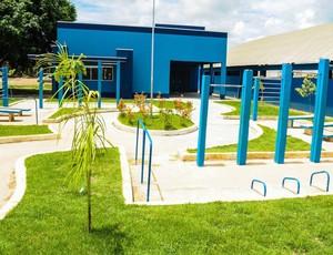 Academias ao ar livre em Ji-Paraná (Foto: Pâmela Fernandes)