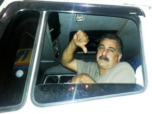 Marco Antônio Silva Reis, caminhoneiro (Foto: Ivair Vieira Jr / G1)