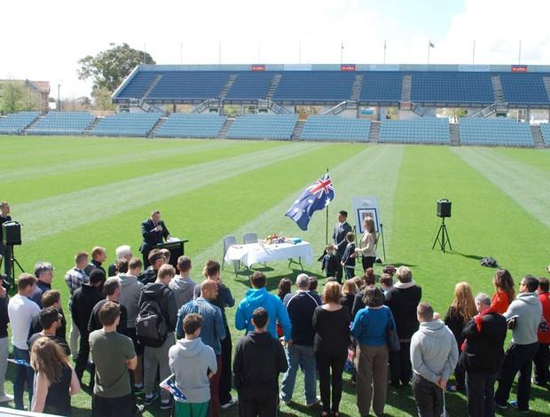 australiano Cássio (Foto: Divulgação / Adelaide United)