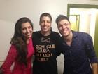Ex-BBB Andressa leva Nasser para conhecer Porchat e Jorge Ben Jor