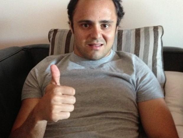 Felipe Massa publica foto já em casa e tranquiliza fãs após acidente em Mônaco (Foto: Reprodução)