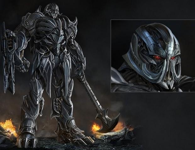 O personagem Megatron, líder dos Decepticons no novo filma Transformes (Foto: Divulgação)