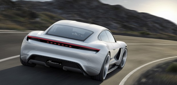 O Porsche Mission E: um concorrente para a Tesla? (Foto: Divulgação)