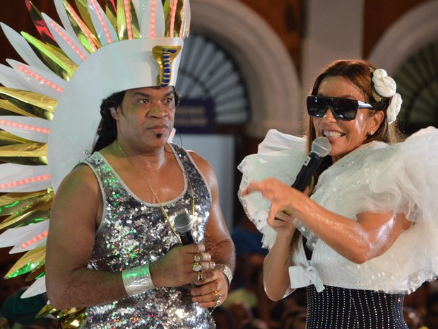 Carlinhos Brown e Ivete Sangalo em show em Salvador, na Bahia (Foto: Felipe Souto Maior/ Ag. News)