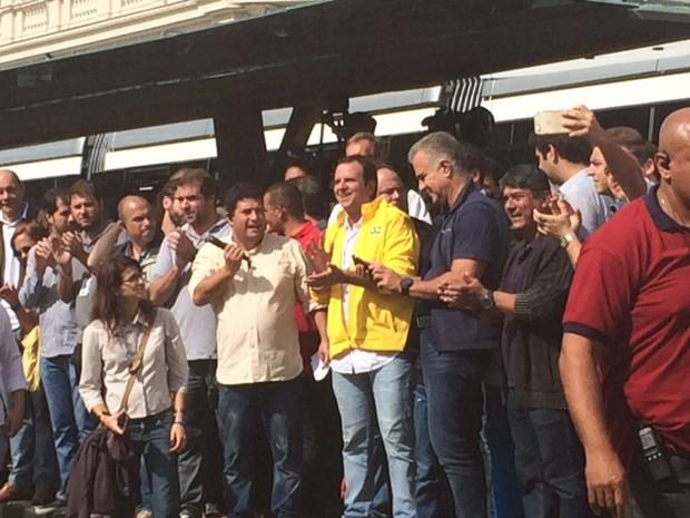 Paes inaugura VLT no Centro do Rio (Foto: Alba Valéria Mendonça/G1)