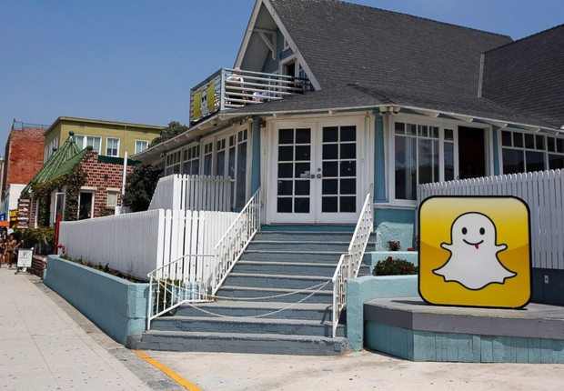 Logo do Snapchat diante de escritório da empresa (Foto: Patrick Fallon/Bloomberg via Getty Images)