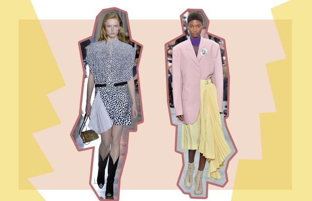 Coincidência Fashion: Plissados (Foto: ImaxTree, Getty e Antonio Barros)
