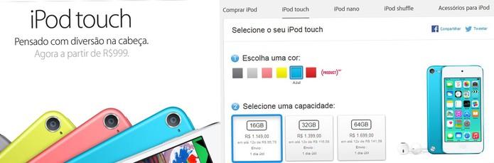 iPods e MacBooks têm aumento no preço no site da Apple (Foto: Reprodução/Barbara Mannara)