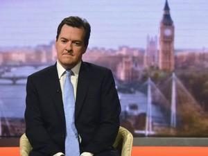 O ministro britânico das Finanças, George Osborne, durante entrevista à BBC neste domingo (23) (Foto: BBC/Reuters)