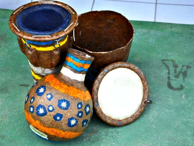 Oficina instrumentos Cruzeiro do Sul (Foto: Vanísia Nery/G1)