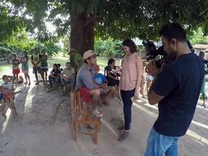 PREP -  Em Viana, no Maranhão, a repórter Mayara Teixeira conta como foi o ataque aos índios Gamela no último dia 30 de abril, quando três agricultores e 22 índios ficaram feridos, um deles quase teve a mão decepada. (Foto: TV Globo)