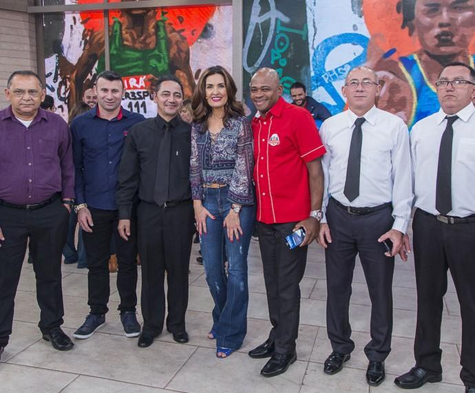 Convidados do programa com a Fátima  (Foto: Artur Meninea/Gshow)