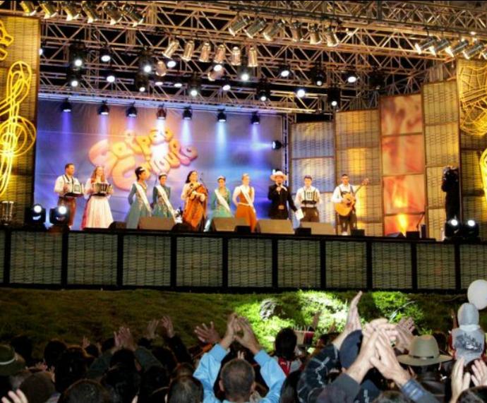 Galpão Crioulo Festa Nacional do Colono Itajaí (Foto: Nelson Robledo/Divulgação)