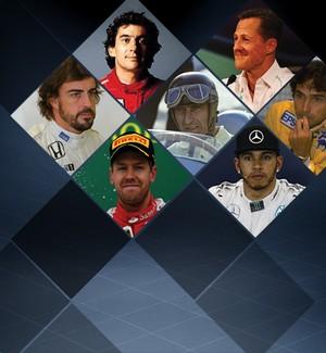 Carrossel os maiores da F1 (Foto: Globoesporte.com)