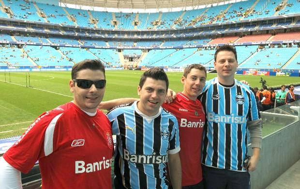 Torcida, Brasil e França, Arena Grêmio (Foto: Cintia Barlem)
