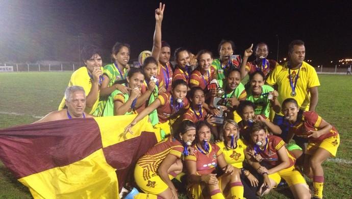 Genus campeão do Rondoniense Feminino 2014 (Foto: Magda Oliveira)