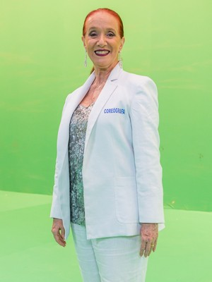 Regina Miranda, coreógrafa da Comissão de Frente da União de Santa Teresa (Foto: Artur Meninea/Gshow)