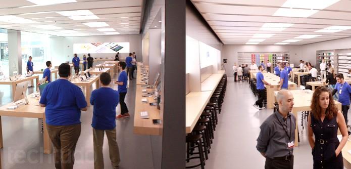 Apple Store em formato Pavillion (Foto: Allan Melo / TechTudo)