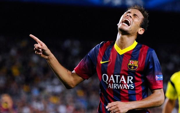 Neymar jogo Barcelona e Ajax (Foto: Getty Images)