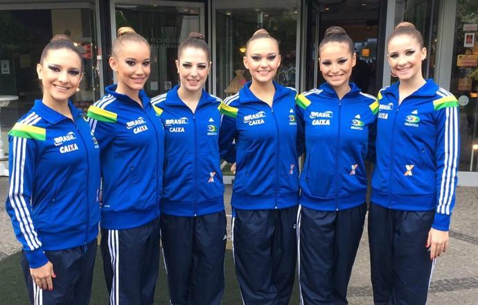 Seleção brasileira ginástica ritmica Grand Prix da Alemanha (Foto: Divulgação/CBG)