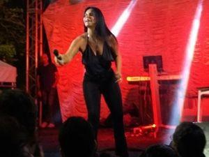 Gretchen encerra turnê com show em Aracaju e é ovacionada (Foto: Fredson Navarro / G1)