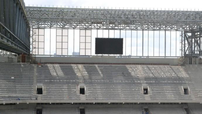 Telão da Buenos Aires na Arena da Baixada, do Atlético-PR (Foto: Site oficial do Atlético-PR/Divulgação)