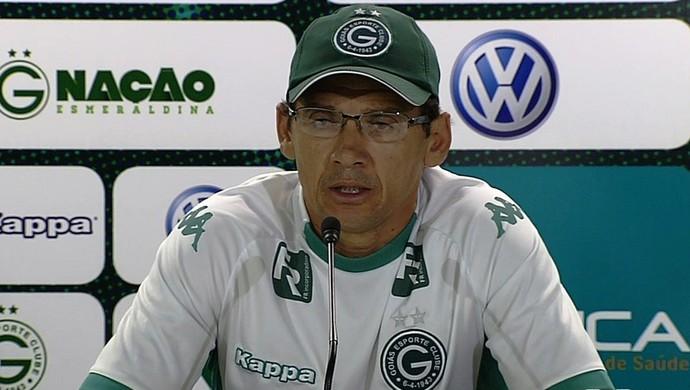 Augusto, técnico interino do Goiás (Foto: Reprodução/TV Anhanguera)