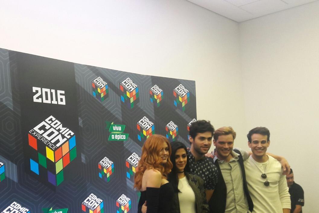 O elenco de 'Shadowhunters' na Comic Con Experience, em São Paulo (Foto: Revista Galileu/Isabela Moreira)
