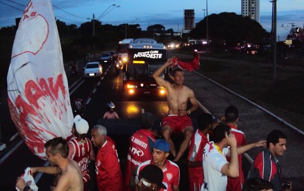 Festa e carreta do Noroeste em Bauru - Copa Paulista (Foto: Thiago Navarro/EC Noroeste)