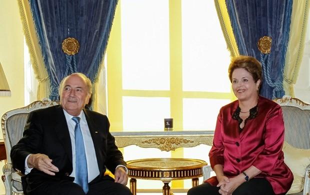 Dilma Rousseff e Joseph Blatter em encontro em Londres (Foto: Roberto Stuckert Filho)