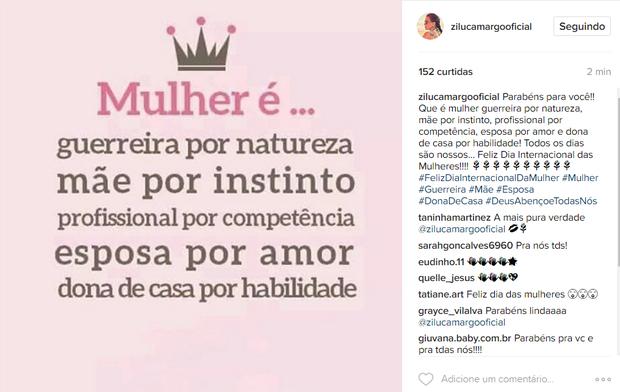 Zilu Camargo (Foto: Reprodução / Instagram)